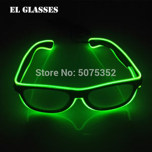 Glowing Bright LED Glasses Neon Flashing Eyewear