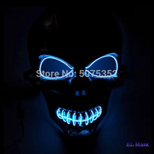 Load image into Gallery viewer, Scary Skull LED Glowing Mask