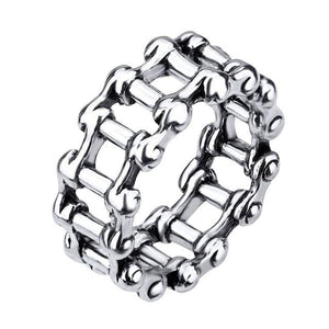 Men's Punk and Biker Alloy CZ Rings