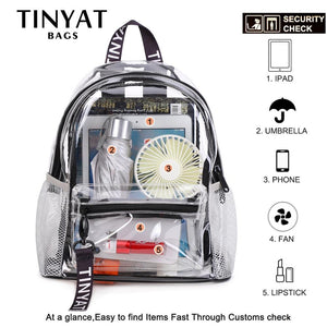 Transparent PVC Women's Backpack