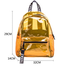 Load image into Gallery viewer, Transparent PVC Women's Backpack