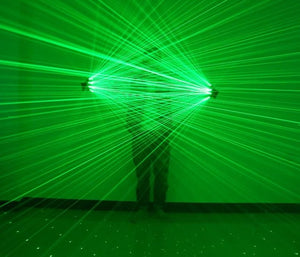 Green LED Laser Gloves - A Lightshow from Your Hands