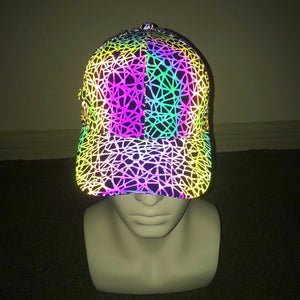 Reflective Light Geometric Baseball Cap