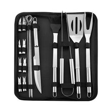 Load image into Gallery viewer, 18 Pcs Tailgating Stainless Steel BBQ Tools Set for Barbecue Grilling