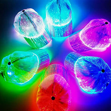 Load image into Gallery viewer, 7-color Light Flashing LED Fiber Optic Baseball Hat