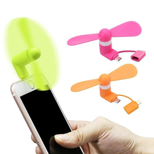 Mobile Phone Fan for iPhone and Android Phones