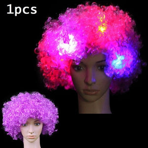 LED Light Blinking Hair Wig