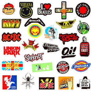 100 pcs Pop, Rock, & Punk Music Band Stickers