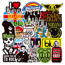 Load image into Gallery viewer, 100 pcs Pop, Rock, & Punk Music Band Stickers