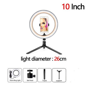 Dimmable LED Selfie Ring Fill Light