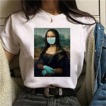 Load image into Gallery viewer, Mona Lisa Quarntine Mask T-Shirt