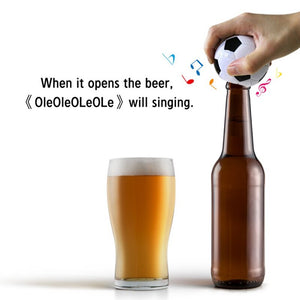 Soccer Ball Beer Bottle Opener with Sound