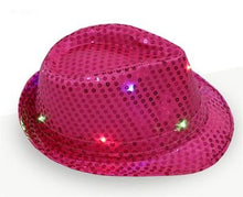 Load image into Gallery viewer, LED Glowing Fedora Hats