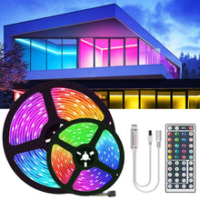 Load image into Gallery viewer, RGB LED Strip Lights with IR Remote