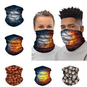 Sports Fan Printed Tube Gaiter Fashion Face Mask