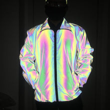 Load image into Gallery viewer, Reflective Holographic Cargo Jacket Windbreaker