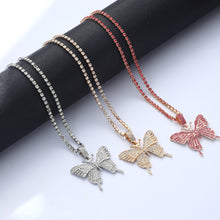 Load image into Gallery viewer, Pink Butterfly Necklace Chain