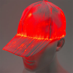 7-color Light Flashing LED Fiber Optic Baseball Hat