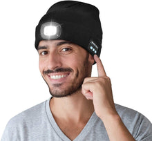 Load image into Gallery viewer, Bluetooth Beanie Hat with Built-in HD Stereo Speaker and Light