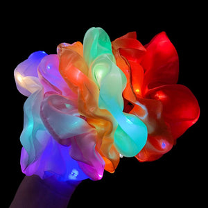 LED Bright Flashing Hair Scrunchie Hair Band