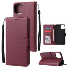 Load image into Gallery viewer, All-In-One PU Leather Flip Wallet Phone Case with Card Slots For iPhones