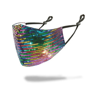 Multiple Color Sequin Bling Mask