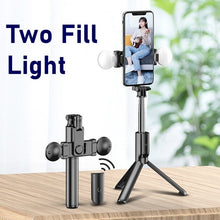 Load image into Gallery viewer, Portable Bluetooth Phone Selfie Stick With Ring Fill Light