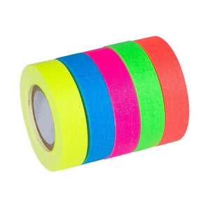 5 pcs Fluorescent Blacklight Reactive Glow In The Dark Tape