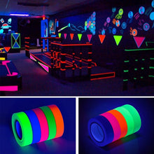 Load image into Gallery viewer, 5 pcs Fluorescent Blacklight Reactive Glow In The Dark Tape