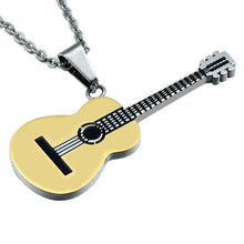 Load image into Gallery viewer, Fashion Stainless Steel Guitar Necklace