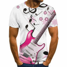 Load image into Gallery viewer, 3D Guitar and Music Notes T-Shirt
