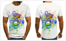 Load image into Gallery viewer, 3D Colorful Music Lover T-Shirt