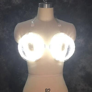 LED Glowing Wine Bra