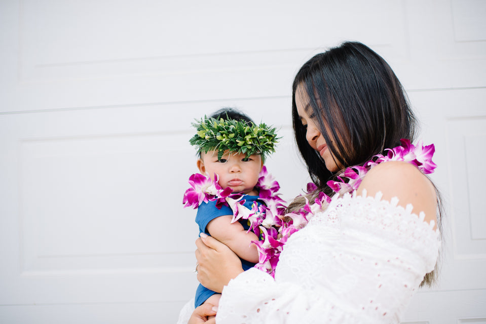 Celebrating Mother's Day With Lei