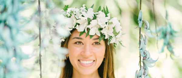 Haku Head Lei - Lei po`o - Beautiful lei you wear on your head -  Hawaii Lei Stand - Haku Shipping & Delivery