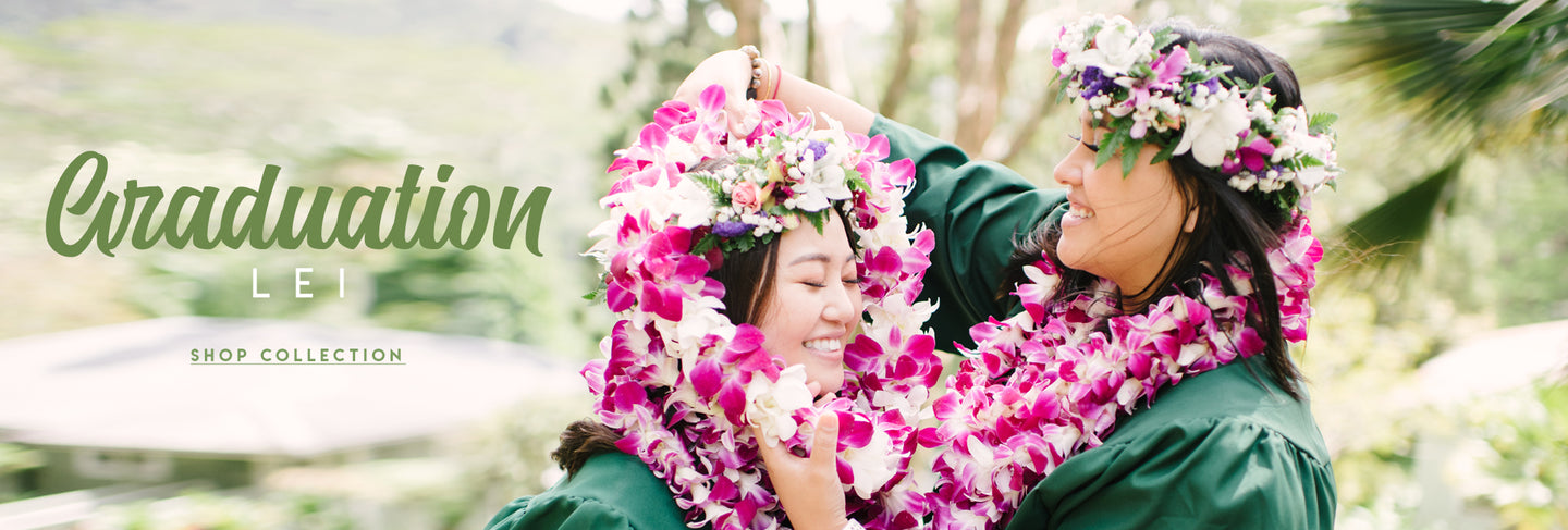 Hawaii Lei Stand - Handmade Hawaiian Graduation Lei - Nationwide Graduation Lei Shipping & Delivery - Order Fresh Hawaiian Flower Lei & Flowers From Our Honolulu Lei Florist