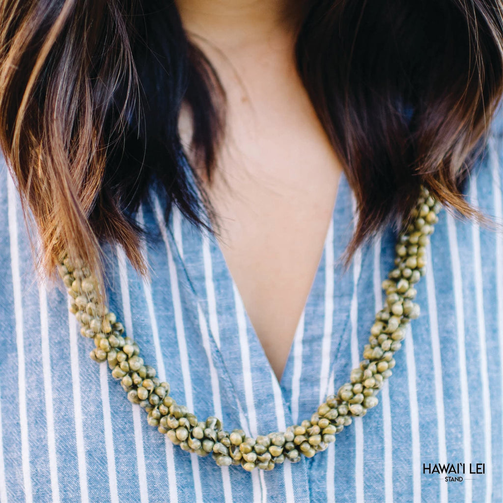 Beachwalk Shell Lei (Green) Lei Shipping And Delivery From Honolulu Hawaii