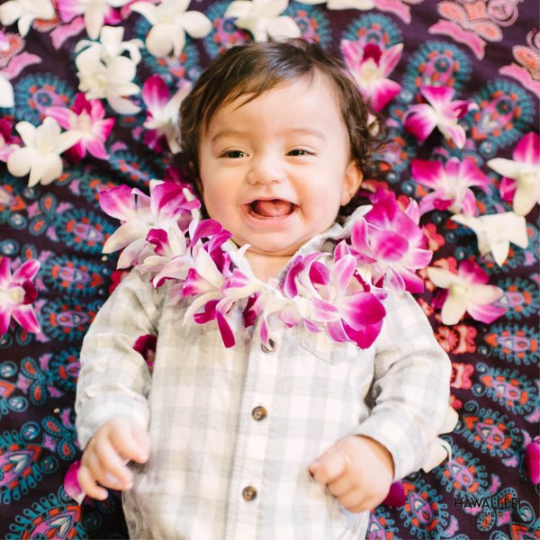 Keiki Single Orchid Lei (Purple) Lei Shipping And Delivery From Honolulu Hawaii