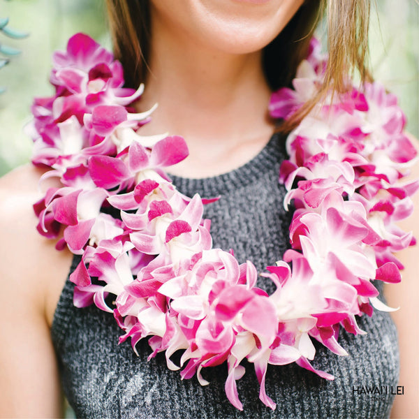 Bulk Orchid Lei (50 Pack) Lei Shipping And Delivery From Honolulu Hawaii