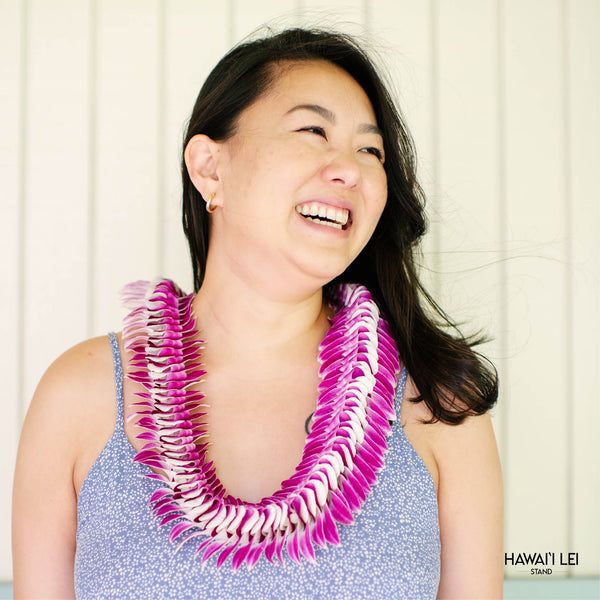 Lanikai Orchid Lei (Purple) Lei Shipping And Delivery From Honolulu Hawaii