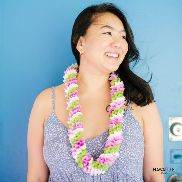 Spiral Orchid Lei (Multi-Color) Hawaii Lei Stand Lei Shipping & Delivery