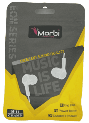 Morbi M11 Champ Excellent Sound Quality Super Bass Earphone - Vprefer