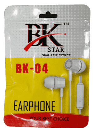 BK Star BK04 Super Bass HandsFree Earphone - Vprefer