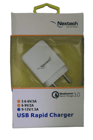 Naxtech 3.0 A Fastest Charging on charger - Vprefer
