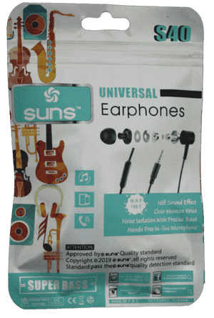 Suns S40 Universal Super Bass HandsFree Earphone - Vprefer