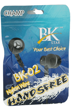 BK Star BK02 Champ  Universal HandsFree Stereo Earphone - Vprefer
