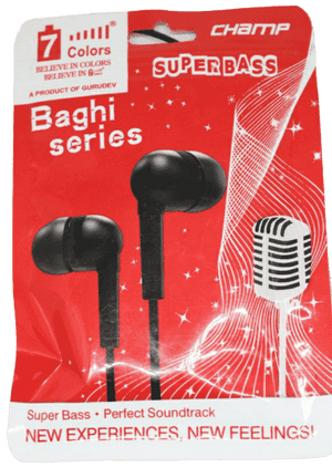 7 Colours Baghi Series Universal HandsFree Earphone - Vprefer