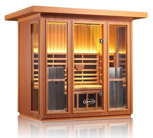 4-5 Person Outdoor Full Spectrum Infrared Sauna | Pure Home Saunas