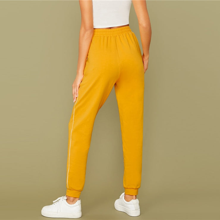 Bright Yellow Stretchy Trousers
