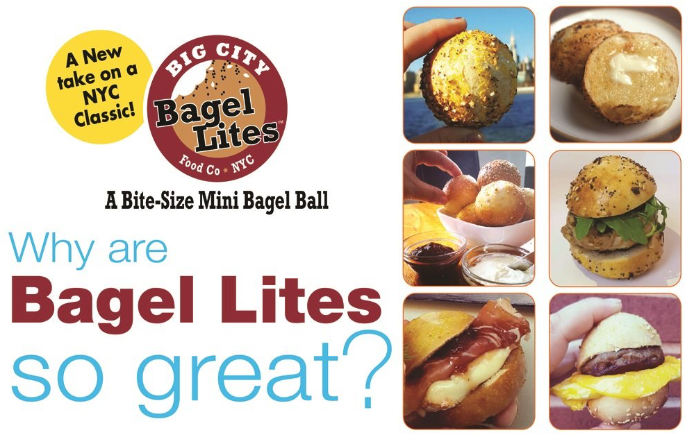 48 Bagel Lites Fresh NYC Mini Bagel Balls- SESAME (6 PACK)